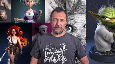 Modelado de personajes en 3D. A 3D, and Animation course by Luis Gomez-Guzman