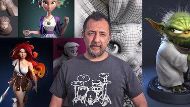 Modelado de personajes en 3D. Un curso de 3D y Animación de Luis Gomez-Guzman