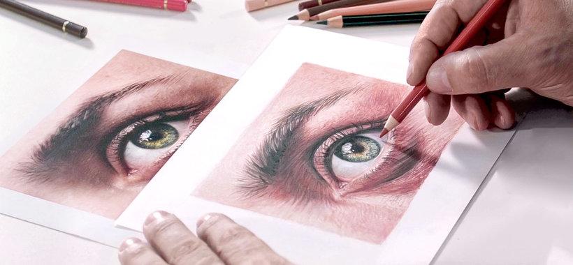 Retrato Realista Con Lápices De Colores Néstor Canavarro Curso