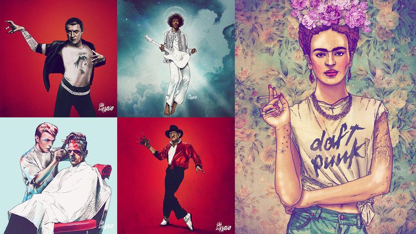 Illustration and Reinterpretation of Emblematic Characters