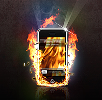 IPhone Fire. A Design&Illustration project by José Antonio  García Montes - Nov 03 2009 02:31 PM