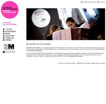 La noche de los teatros. Un proyecto de Diseño, Cine, vídeo, televisión y Desarrollo de software de seven  - Viernes, 12 de febrero de 2010 17:51:00 +0100