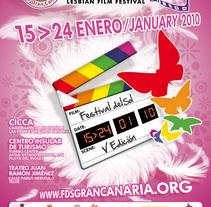 Concepto Gráfico - Festival Internacional de Cine Gay y Lésbico de Canarias 2010. A Design, Film, Video, and TV project by tad zius - Feb 19 2010 02:52 AM