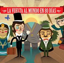 La vuelta al mundo en 80 días. Un proyecto de Diseño, Ilustración y Publicidad de Rosita         - 24.02.2010