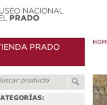 Tienda del Mueso del Prado. Un proyecto de Diseño y Diseño Web de Color Vivo Internet  - 02-06-2010