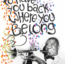 Hello dolly -Louis Armstrong. A Design&Illustration project by Pablo Favre         - 13.07.2010
