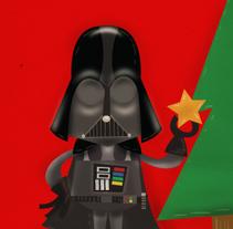 star wars xmas. Un proyecto de Ilustración de Anna Pujadas - Lunes, 20 de diciembre de 2010 16:43:06 +0100