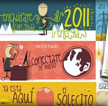 Calendario ECI 2011. A Design&Illustration project by Fábrica de Mariposas         - 02.01.2011