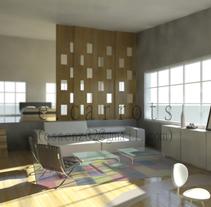 Algunos Interiores en 3D. A Installations, and 3D project by Evelyn Saenz Guijarro         - 12.01.2011