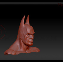 Busto de Batman. A Design, Illustration, Advertising, Film, Video, TV, and 3D project by Sem Casas Humanes         - 15.02.2011
