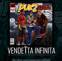 Puk2 cd cover. Un proyecto de Diseño e Ilustración de Leonardo Paciarotti Di Maggio - 25-03-2011