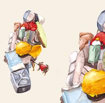 walking away. Un proyecto de Ilustración de Áurea Nogués         - 08.05.2011