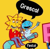 cartel Festa Major de Gràcia - Bcn. Un proyecto de Diseño e Ilustración de Sandra Maya  - 13-05-2011