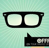 OFFF On Tour Madrid 2011 Titles. Un proyecto de Diseño, Ilustración, Publicidad, Motion Graphics, Cine, vídeo, televisión y 3D de Rubén García         - 20.05.2011