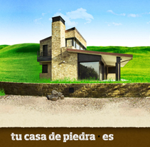 Tu casa de piedra. A Design, and Advertising project by Oscar Sanluis - Jun 05 2011 08:37 PM