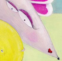 La rateta que escombrava l'escaleta. A Illustration project by gemma canal         - 16.06.2011