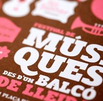 Festival de Músiques des d'un Balcó 2011. Un proyecto de Diseño e Ilustración de SOPA Graphics         - 30.06.2011