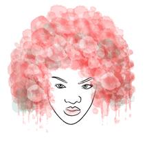 Ilustración: Afro Hair. Um projeto de Ilustração de Xiomara Ariza Bautista         - 13.07.2011