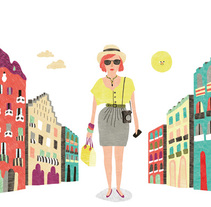 La Roca Village. A Illustration, and Advertising project by Caroline Selmes         - 26.07.2011