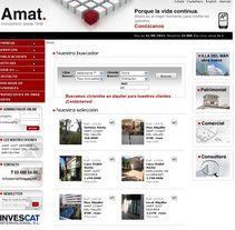Finques Amat. Un proyecto de Diseño, Publicidad y UI / UX de Montse Álvarez         - 12.08.2011