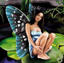 Hada entre los Nenúfares. A Design&Illustration project by Carlos Venegas Parra         - 10.01.2012