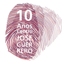 Cartel - folleto  Aniversario 10 años Centro José Guerrero. Um projeto de Design e Ilustração de Ohpaco  - 12-01-2012