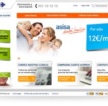 Página web de Asisa. Um projeto de Design de Gupo         - 15.01.2012