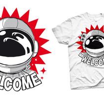 Camiseta Mr Welcome. A  project by Alvaro Portela Martínez         - 12.04.2012