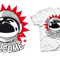 Camiseta Mr Welcome. Un proyecto de  de Alvaro Portela Martínez - 12.04.2012