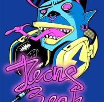 Acid character T-Shirts. A Design&Illustration project by Roger Llopis Lloret         - 25.04.2012