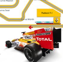 Renault Gran Premio de Montmeló. Un proyecto de Diseño e Instalaciones de Juan Vega Martínez         - 28.04.2012