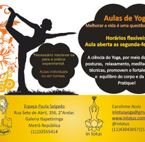 Aulas yoga. A  project by Carolinne Assis         - 09.05.2012