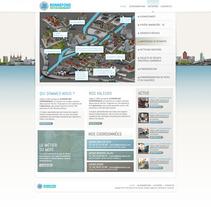 Direction Artistique de la page web De JB Bonnefond. Um projeto de  de Laure Chassaing - 18-06-2012