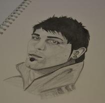 Retrato DV7. A Illustration project by Alex Díaz Álvarez - 26-06-2012