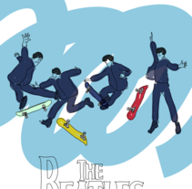 SkateBeatles. A Illustration project by Pau Avila Otero         - 14.07.2012