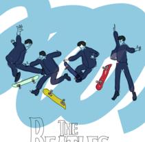 SkateBeatles. Un proyecto de Ilustración de Pau Avila Otero         - 14.07.2012