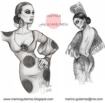 Fashion Illustrations. A Design, Illustration, and Advertising project by Marino Gutiérrez del Cerro         - 16.07.2012
