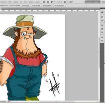 Farmer. A Illustration project by Ivan Rivera         - 16.07.2012
