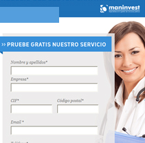 Maninvest Landing pages 2012. A  project by Silvia Iglesias - 25-07-2012