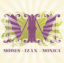 ENLACE MOISÉS Y MONICA | invitacion. A Design, Illustration, and Advertising project by alejandro escrich - 27-07-2012