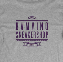 Bamvino Sneaker Shop Shirts. A Design, Illustration, and Advertising project by Covabunga - 07.31.2012