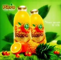 CUPÓN JUGOS KERO. A Design, Illustration, Photograph, and UI / UX project by Meyci Laurel         - 07.08.2012