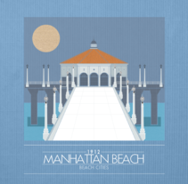 Beach Cities CA. A Design&Illustration project by Carlos Mosquera         - 14.08.2012