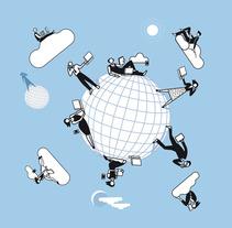 Ilustraciones vectoriales en torno al concepto de cloud computing. Um projeto de Ilustração de Jesús Sanz         - 03.09.2012