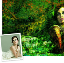 Green woman. A Design, Illustration, and Photograph project by Ineshi         - 07.09.2012