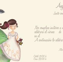 Invitaciones de Boda y Meseros personalizadas.. Um projeto de Ilustração de Rosa María Martínez Hurtado         - 03.10.2012