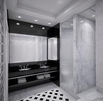 3D Baño . Un proyecto de Diseño y 3D de Sergio Fernández Moreno         - 07.10.2012