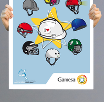 Gamesa posters. A Design&Illustration project by Nuria  - 15-10-2012