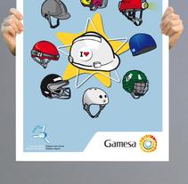 Gamesa posters. Un proyecto de Diseño e Ilustración de Nuria  - Lunes, 15 de octubre de 2012 13:45:05 +0200
