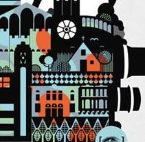 26 Festival Internacional de Cine Cinema Jove . Um projeto de Design, Ilustração, Publicidade e Cinema, Vídeo e TV de Casmic Lab         - 16.10.2012